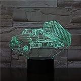 XKALXO 3D Nachtlicht Led Lkw Personalisierte Dekoration Lampe Zimmer Multi Color Cool Halloween...