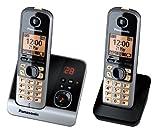 Panasonic KX-TG6722GB Duo Schnurlostelefon (4,6 cm (1,8 Zoll) Display, Smart-Taste, Freisprechen,...