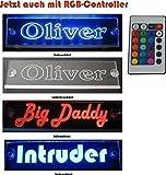 Schmalz Werbeservice Trucker LKW Namensschild Größe 30x10 cm mit RGB Controller 22 Funktionen -...
