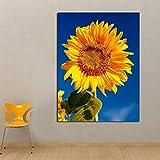 Blauer Himmel Sonnenblume leinwand ölgemälde drucken Wohnzimmer küche Dekoration Moderne...