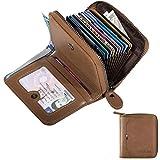 HUANLANG Herren Geldbörse RFID-blockierend Multi-Kartenhalter Geldbörse für Herren, faltbar, mit...