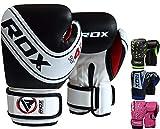 RDX Boxhandschuhe Kinder Muay Thai Boxsack Training Sparring Kickboxen Sandsack Junior Maya Hide...