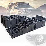 ZPCSAWA Stufenkeile Auffahrkeile, rutschfeste Oberfläche Ausgleichskeile für Rad, Van, Wohnmobile Wohnwagen 2er-Set