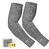 Unigear Arm Sleeves, Armlinge mit Kühleffekt und UV-Schutz, für Herren Damen, rutschfest, für...