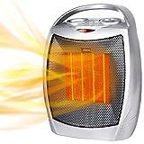 Heizlüfter, Keramik Heizlüfter mit Thermostat und Überhitzungsschutz 750W / 1500W Leistung...