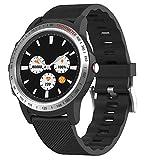 HAHALE Smart Bluetooth-Uhr, Bluetooth Armband IP67 wasserdichte 1,3-Zoll-runde Screen Pointer 260mAh...