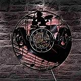 Musikinstrument Drum Kit Vinyl Wallwood Tisch Lampe Nachttisch LampeBatterie Tischlampe