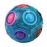 Clacce Magic Rainbow Puzzle Ball- Geschicklichkeitsspiel - Spannendes Knobelspiel für Kinder und Erwachsene Mädchen Regenbogen Ball Zauberwürfel Regenbogen Ball (Leuchtend)