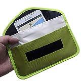 MOZHANG Faraday-Tasche, Autoschlüssel-Signalblocker-Hülle, Abschirmtasche Geldbörsenfall für Handy-Datenschutzschutz und -wagenschlüssel FOB, Anti-Tracking Anti-Spionage, HSGAV, rot (Color : Green)