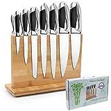 Magnetischer Messerblock, 38,1 cm, aus natürlichem Bambus, Messerhalter mit starken Magneten, doppelseitiger Besteckständer und Aufbewahrungsregal, Lieferung in Geschenkbox
