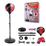 Sommer's Laden Punchingball Boxstand Höhenverstellbarer Standbox, Reflex Fightball Set Speed...