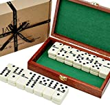 Domino - Domino Spiele - Sechs Domino Set in Mahagoni-Etui - spiel des jahres- Jaques of London