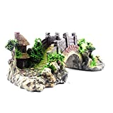 HPiano Aquarium Deko Höhle Aquarium, das dekorative Brücke landschaftlich gestaltet Baumstamm Holz...