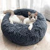 Haustierbett Hundesofa Haustiernest Plüsch-Donut Hundematte, Hund Katze Runde Warm Cuddler Kennel...