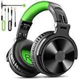 Over Ear Kopfhörer OneOdio DJ Kopfhörer mit Kabel Stereo Surround Gaming Headset mit Boom Mikrofon...