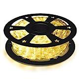 COSTWAY 30M LED Lichterschlauch, Lichtschlauch für Außen und Innen, Lichterkette mit 1080 LEDs,...