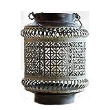 Zhuqin-minm Kerzenhalter Japanische Art-Eisen-Leuchter Hohllaternenkorb Wind Lampe Handwerk Retro...