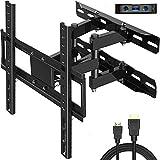 Juststone TV Wandhalterung, Schwenkbare Neigbare TV Halterung für 26-60 Zoll Flach & Curved Fernseher oder Monitor bis zu 40kg, max.VESA 400x400mm
