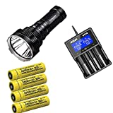ACEBEAM Bundle K70 Long Thrower High Intensity LED Flashlight XHP35 HI LED -1300 Meter w/XTAR VC4 &...