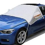 DINGZHAO Auto Frontscheibenabdeckung, Windschutzscheibe Abdeckung mit Seitenspiegelabdeckung,Frontscheibe für Winter Schneeabdeckung und Scheibenwischer UV-Schutz, Sonne, Staub, Frost, Schnee (XL)