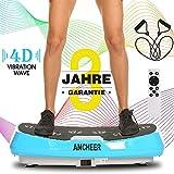 ANCHEER 4D Vibrationsplatte Slim Vibration Plate, Fitness Dual-Motor Vibrationsplatten mit Großer...