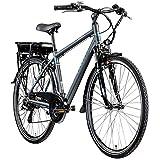 Zündapp E-Bike Trekking 700c Green 7.7 Pedelec Trekkingrad Herren 28 Zoll Touren (grau/blau, 48 cm)