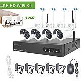 720P 4 Kanal Funk Überwachungsset, Aottom 4CH 1080P NVR mit 4 x Drahtlos 1MP IP Überwachungskamera...
