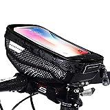 Faireach Lenkertasche Fahrrad mit Handyhalterung, Rahmentasche Oberrohrtasche, Fahrrad Handy...