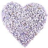 Hilitchi Quarz-Trommelsteine, zerkleinerte Kristalle, natürliche Steine, unregelmäßige Form,...