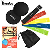 heeba Resistance Hip Bands Multiband Fitness Widerstandsbänder 5er Premium Set mit Core Sliders...