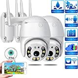 Außenüberwachungskamera WiFi 1080P Kuppel IP-Kamera PTZ, IP65 wasserdicht, Bewegungserkennung, 30...