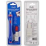 Läufer 69607 Elektrischer Radiergummi, batteriebetriebener Radierstift, wechselbare Aufsätze mit 2...