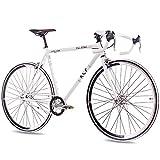 KCP 28' RENNRAD Fahrrad Rad FG1 Road 2016 Fixed Gear 1 Gang 59cm Weiss - 71,1 cm (28 Zoll)