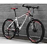 Unbekannt Mountain Bike 26 Zoll Speichenrad Hochgekohlt Steel Suspension Geschwindigkeit...