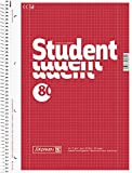 Brunnen Collegeblock Student, A4, 70 g/m², 80 Blatt (5 Blöcke, kariert)