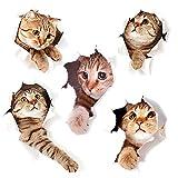 3D Katzen Wandtattoo Kombination WC-Aufkleber Wandsticker Wandaufkleber Wasserdichte...