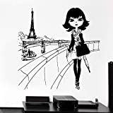 mlpnko Abnehmbarer Aufkleber Eiffelturm Frankreich Europa Kindermode Mädchen Dekoration...
