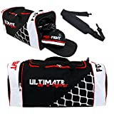 FOX-FIGHT Ultimate Sport Tasche Sporttasche Sportbag Gym Training Bag Schuhfach (L (70x28x28cm))