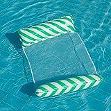 Supefriendly Wasserhängematte, Pool-Schwimmliege, Aufblasbare Schwimm-Schwimmbett-Hängematte für Pool mit Bodennetz, Tragbarer Schwimmsessel-Bett-Floß-Liege für Erwachsene Pool-Party-Whirlpool Sommer