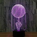 Skeleton Basketball 3D Lampe 7 Farbe Led Nachtlampen Für Kinder Touch Led Usb Tisch Baby Schlafen...