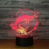 3D-Illusionslampe LED-Nachtlicht Neues Licht Stereo-Acryl-Nachtlampe zum Angeln Angeln Köder Köder...