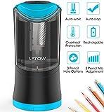 LATOW 001B Elektrischer Anspitzer, 3 Loch Größen und 5 Nib Gang Anpassung Bleistiftspitzer,...