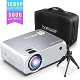 Beamer BOMAKER 2020 Upgrade 5000 Lumen Native 1280*720P Full HD mit Tragetasche Stativ unterstützt...