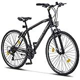 Licorne Bike Life Trekking (Schwarz/Grau) 28 Zoll Cross, Trekking, Mountainbike, MTB, geeignet ab...