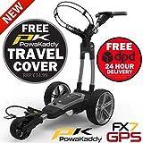 PowaKaddy 2020 FX7 GPS-Golf-Trolley, 18 Löcher, Lithium, inkl. Reiseabdeckung