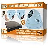 IP PoE Videoüberwachung Set mit 3X IP FullHD Dome Kameras und NVR inkl. Software - 1000GB...