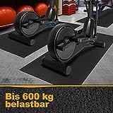 Floordirekt Strapazierfähige Bodenschutzmatte für Fitnessgeräte   rutschfest, geräuschdämmend,...