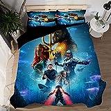 ANIMES Bettwäsche Bettbezug Set Aquamans Serie Modern Style Mikrofaser Bettbezug Mit Reißverschluss Schließung Bettwäsche-Set Für Männer Und Frauen,I-Double(200 * 200cm)