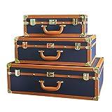 Wguili Truhen Im amerikanischen Stil Europäische Leder Koffer Soft-Dekoration Modell Raumdekoration...