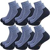 GAWILO Sport Sneaker Socken (6er-Pack) (47-50, jeans)